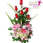 6 Rosas con lilums